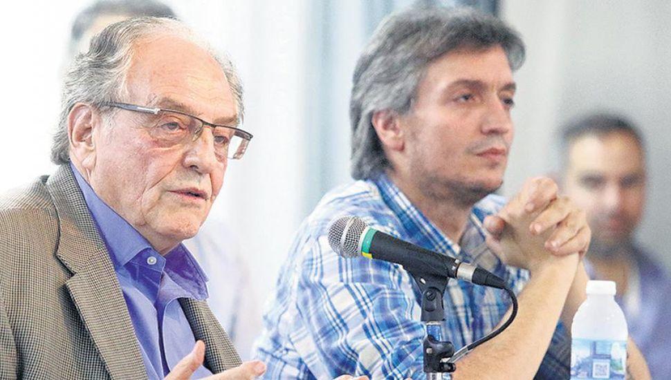 Carlos Heller y Máximo Kichner
