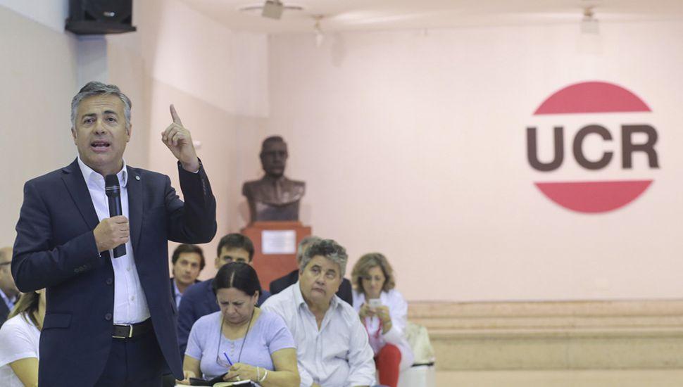 El presidente de la Unión Cívica Radical, Alfredo Cornejo, presentará un documento a la convención.