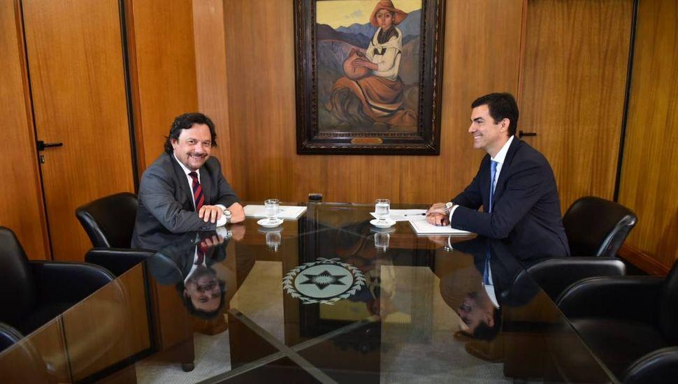 Gustavo Sáenz y Urtubey iniciaron  la transición en el gobierno salteño