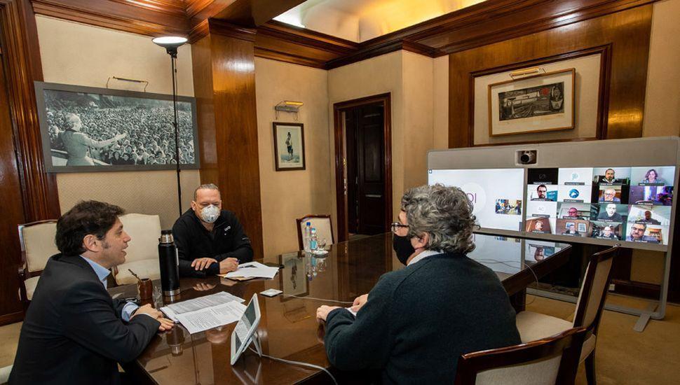 Kicillof mantuvo un encuentro virtual con el Agro.
