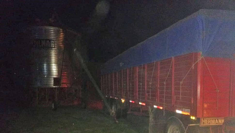 El camión fue trasladado al depósito judicial.