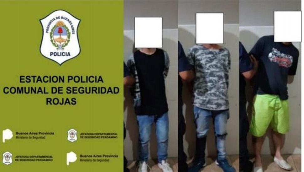 Tres detenidos por un intento de hurto en un supermercado