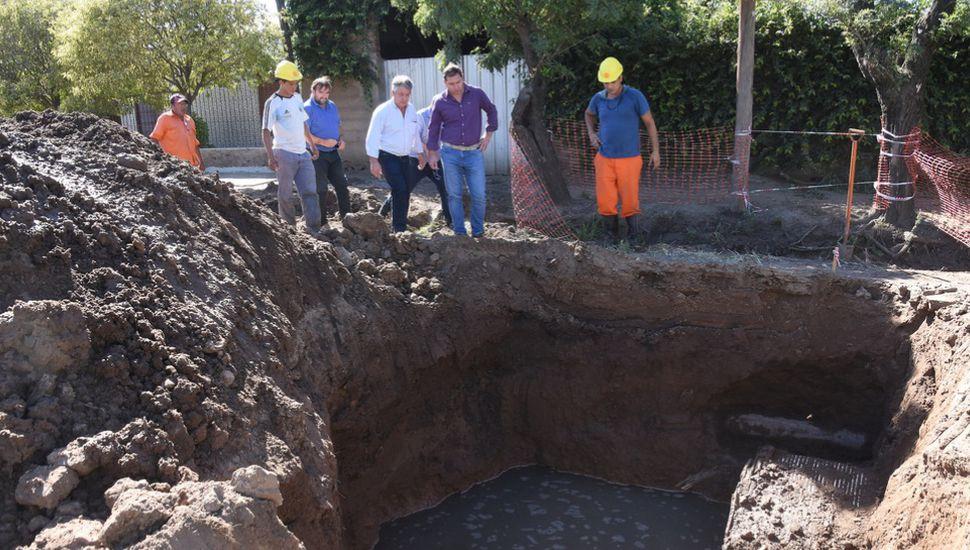 Ya está en marcha la obra para finalizar el desagüe de la calle Posadas