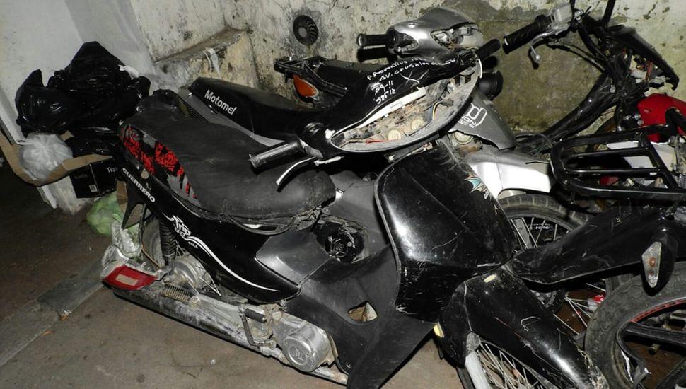 La moto de la víctima fatal.