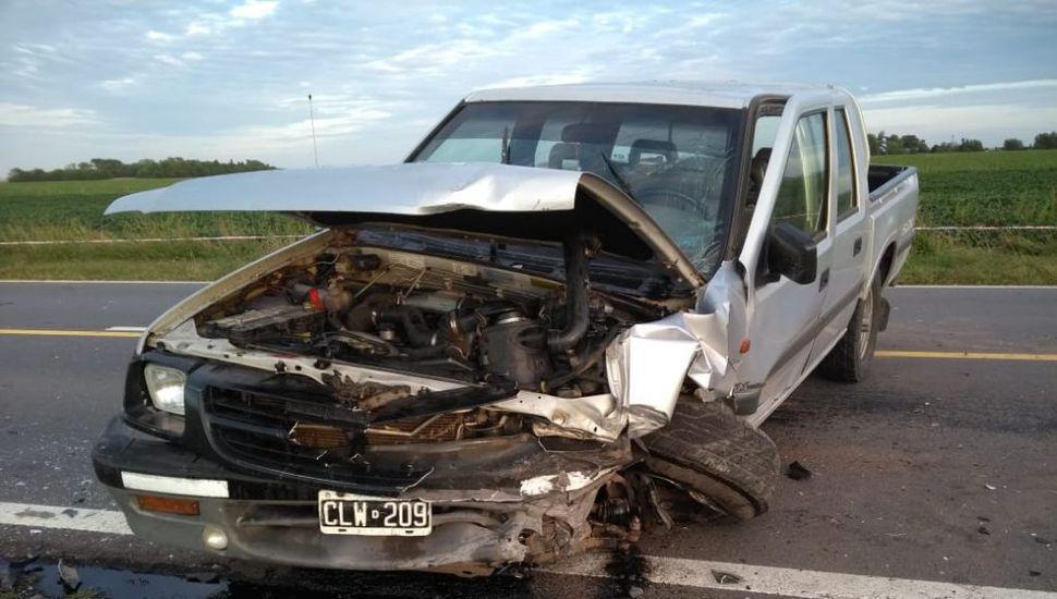 Cuatro heridos en un choque frontal sobre Ruta 50