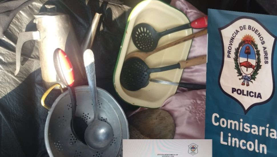 Un aprehendido por robar utensilios de cocina en Lincoln