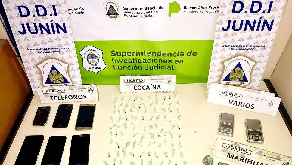 Cayó una banda que traficaba cocaína de Rosario a Junín en colectivos de pasajeros
