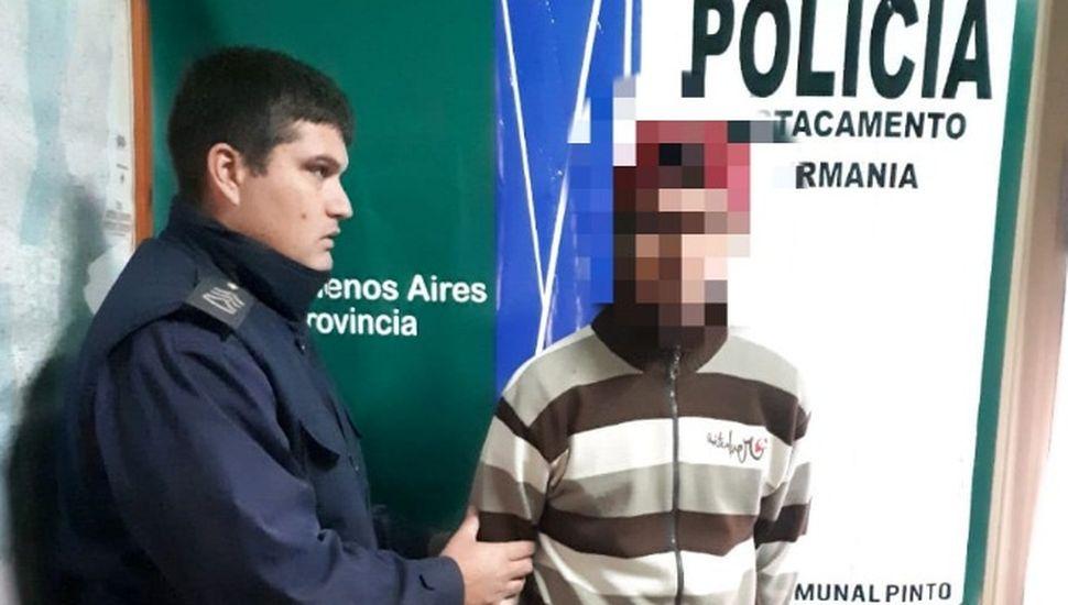 Un aprehendido por tenencia ilegal de arma de fuego en Pinto