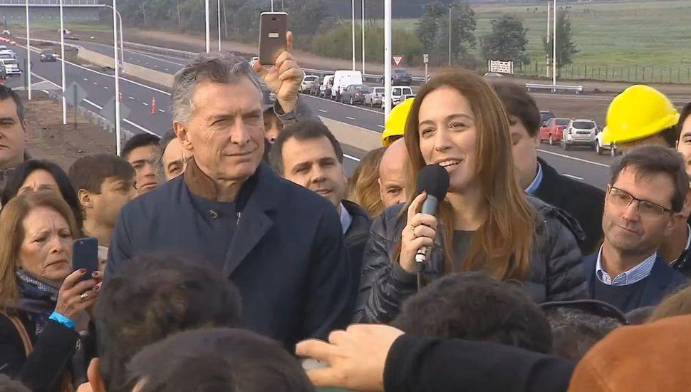 Obra de la Autopista 7: Macri y Vidal inauguraron el bypass de Giles