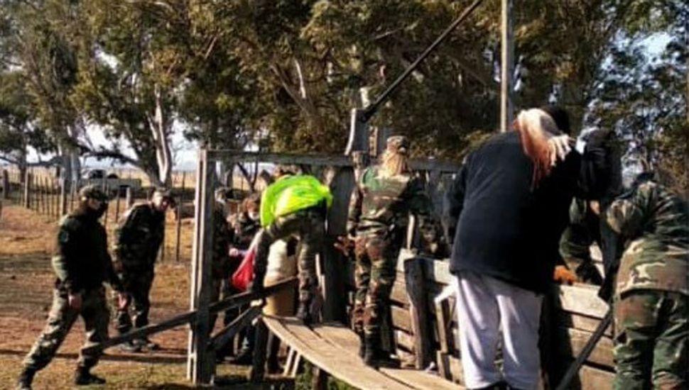 Personal policial de Comandos de Prevención Rural de la Región trabajaron en amplio operativo conjunto.
