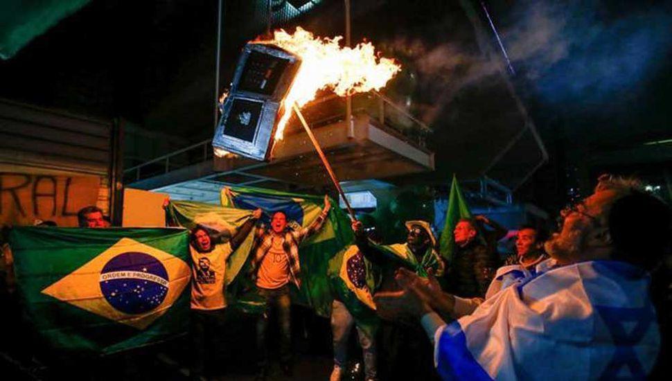 Seguidores de Bolsonaro  causaron una ola de violencia