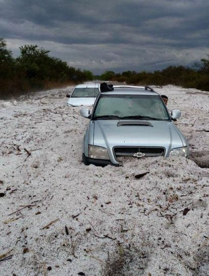 Tremendo temporal de lluvia y granizo en Córdoba y San Luis