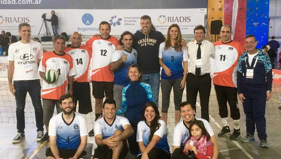 Participantes de la Cumbre Global de Discapacidad  realizada en Tecnópolis.
