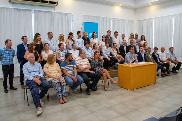 El equipo completo del gabinete del intendente Pablo Petrecca, de cara a los próximos cuatro años.