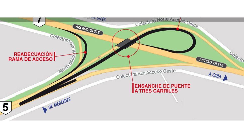 Ya funciona la nueva conexión entre el  Acceso Oeste y la autopista de la Ruta 5