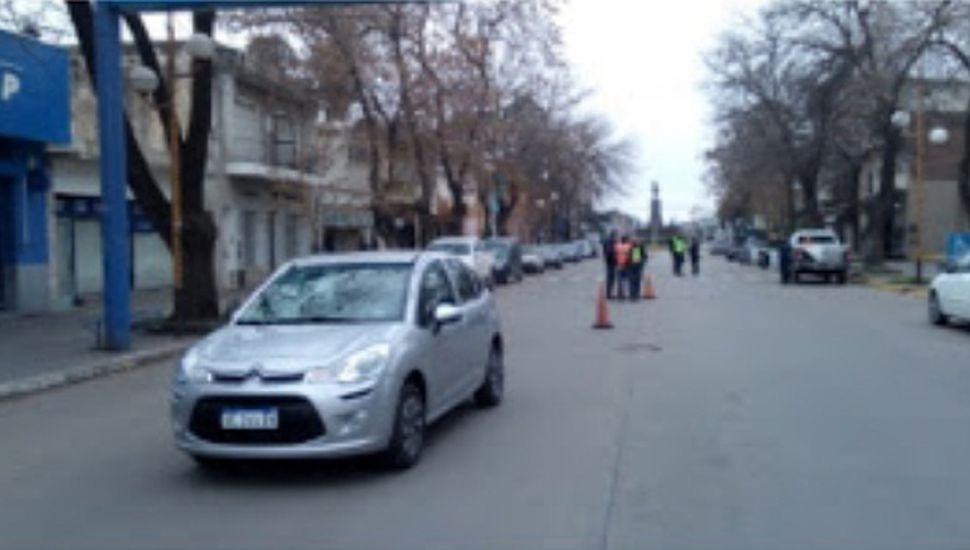 Atropellaron a un agente de tránsito en Chacabuco