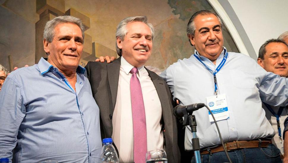 Fernández prometió a la CGT que será parte del Gobierno