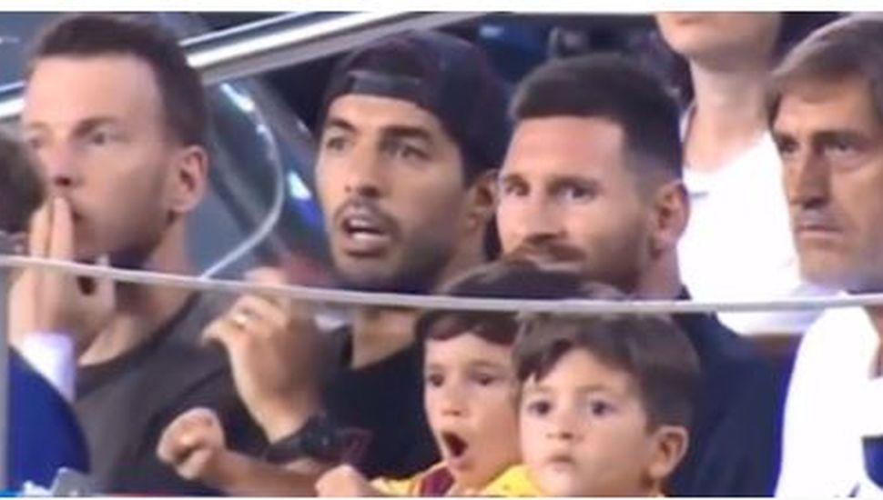 El gracioso reto de Luis Suárez a Mateo Messi por gritar inoportunamente un gol