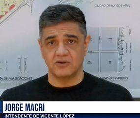 Jorge Macri, durante la entrevista con TeleJunín.