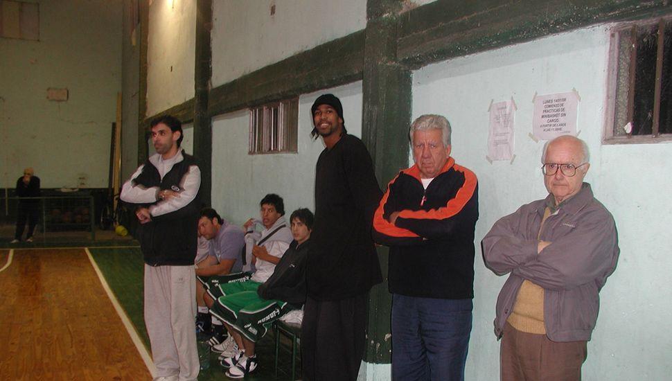 Rufus, con Juan Roberto Macario, Osvaldo Suárez y Leandro Chemile, esa noche.