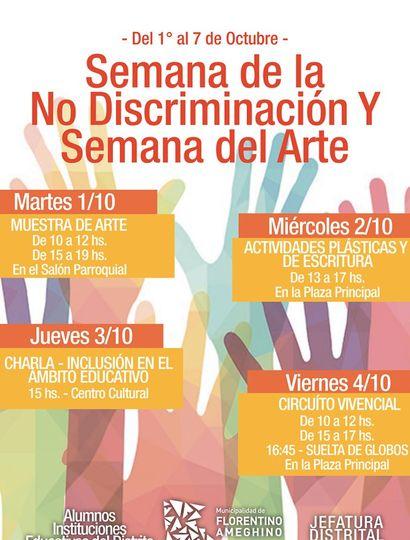 """El martes comienza la """"Semana de la No Discriminación"""" y la """"Semana del Arte"""""""