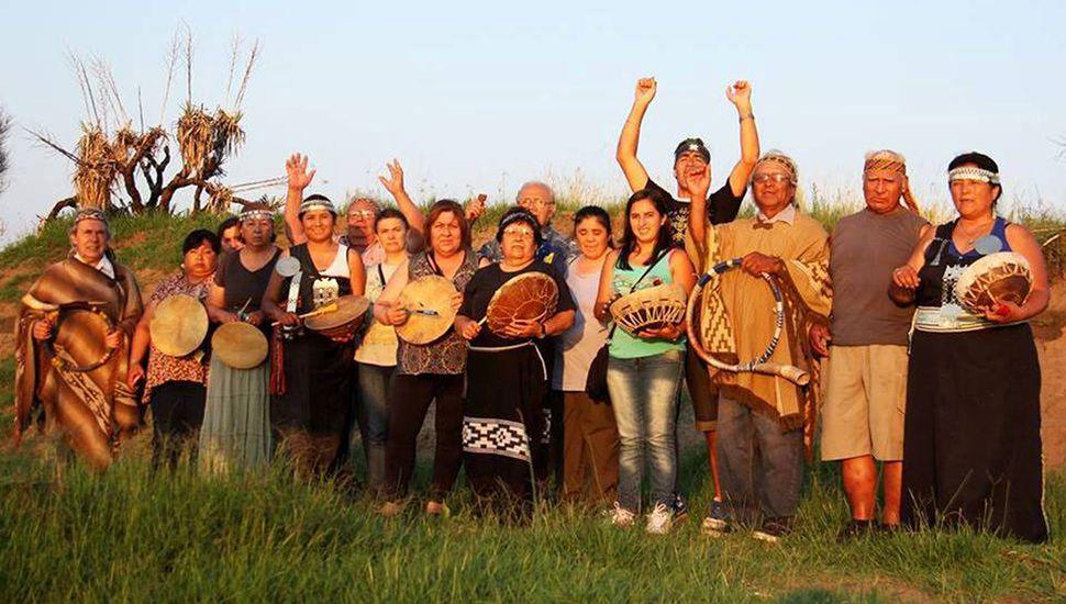 Celebración mapuche en Los Toldos