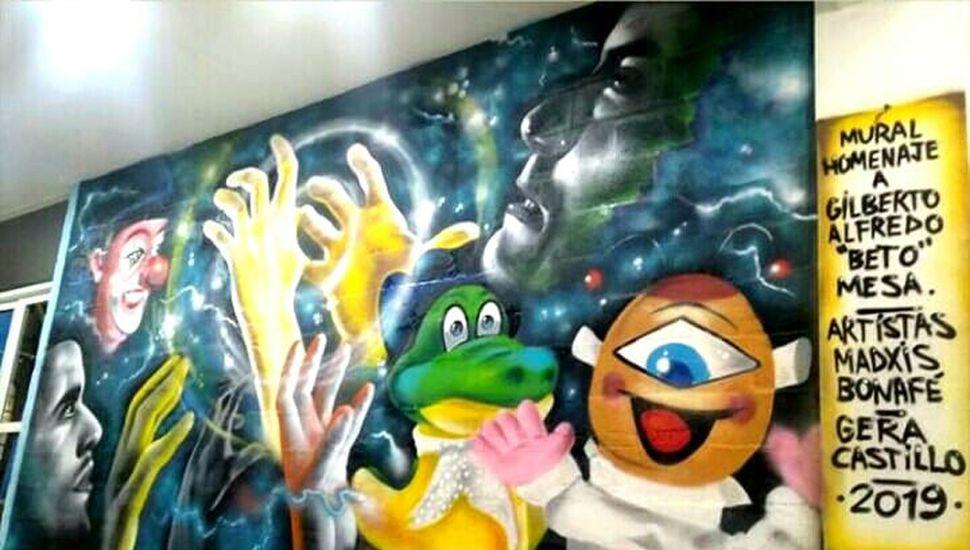 Mural en el Complejo Beto Mesa.