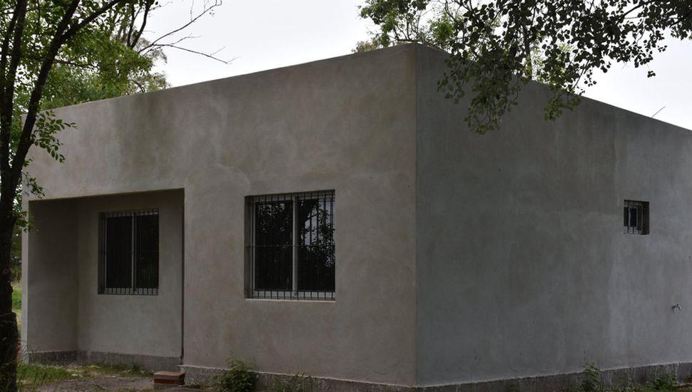 La nueva casa que se construye en La Salada.
