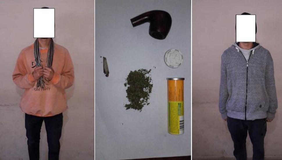 Secuestran marihuana y aprehenden a tres jóvenes en Rojas