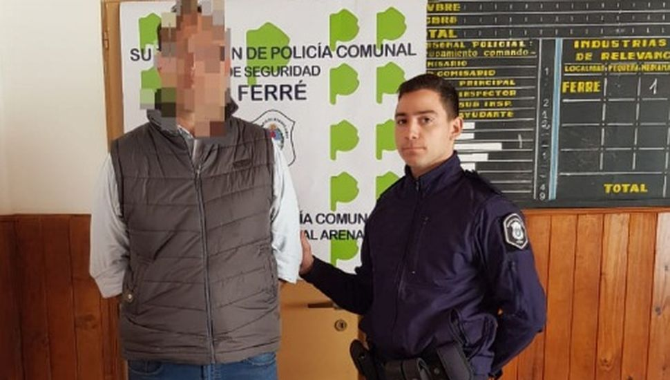 Detuvieron a un hombre en Ferré