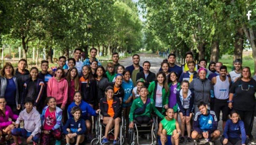 Integrantes de la selección de deportistas con parálisis cerebral.