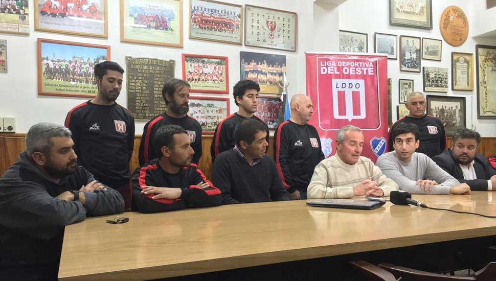 Se presentaron en la Liga los cuerpos técnicos de las selecciones Sub-13 y Sub-15.