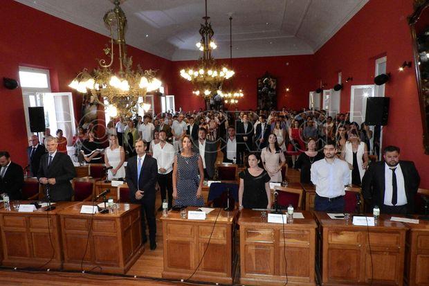 El lunes se realizó una sesión especial para la asunción de los concejales.