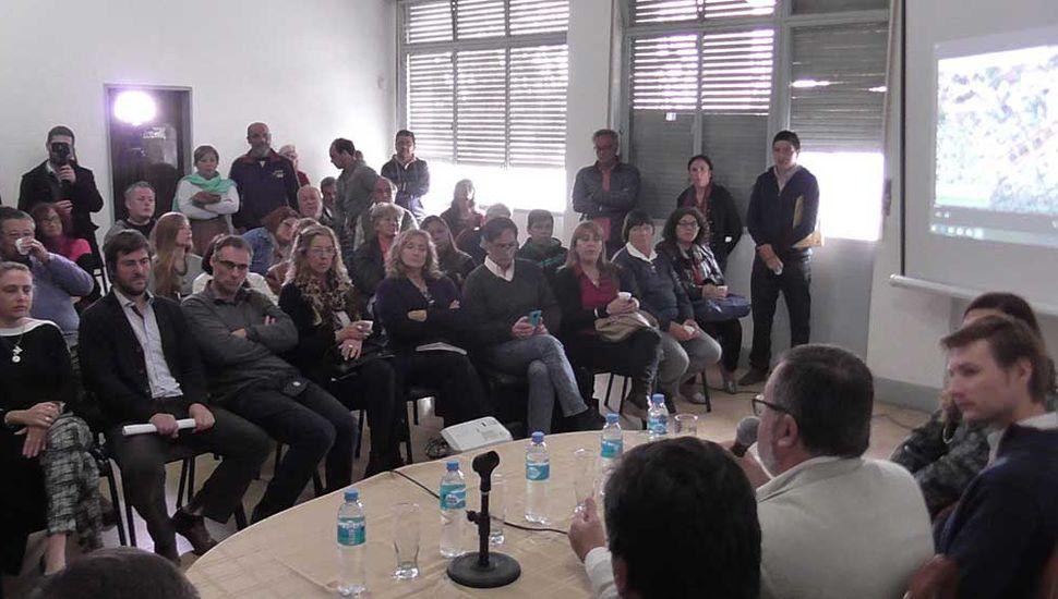 Aspecto de la conferencia de prensa.