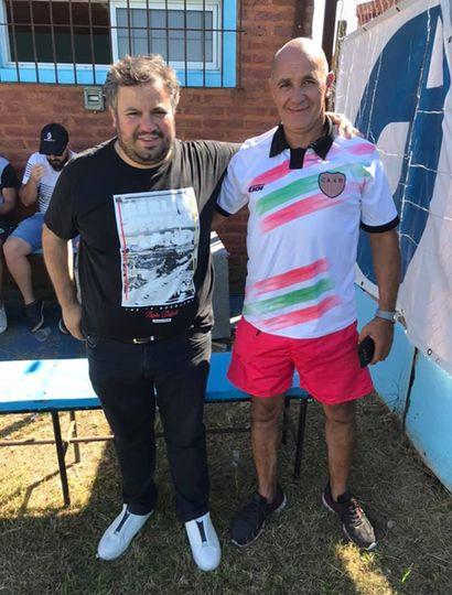 Lautaro Mazzutti y Daniel Barco, presidentes de Newbery y Ambos Mundos.