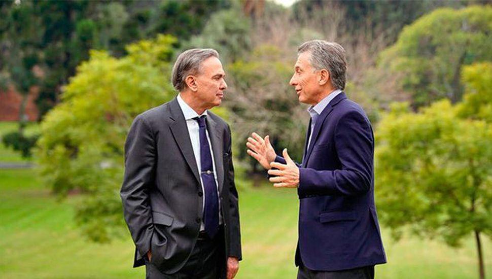 Miguel Ángel Pichetto junto a Mauricio Macri.