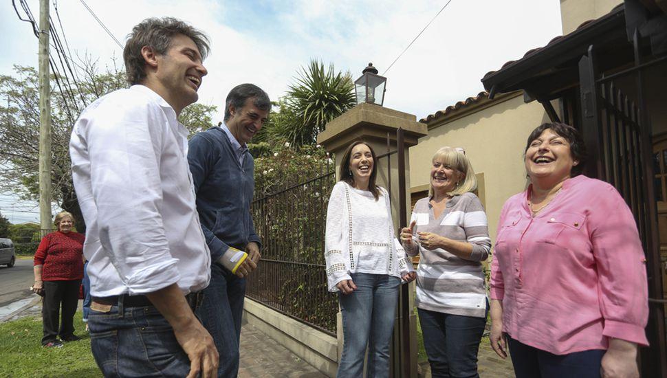 María Eugenia Vidal sigue moviéndose en todo el territorio bonaerense para sumarle votos a sus candidatos.