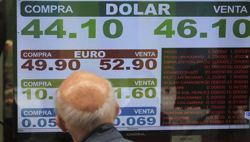 Guerra comercial impactó en el dólar y se acercó a $46