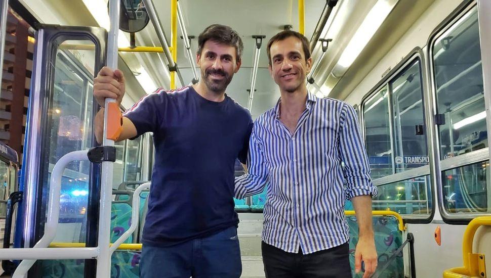 El Senador Juan Fiorini junto al intendente Pablo Petrecca.