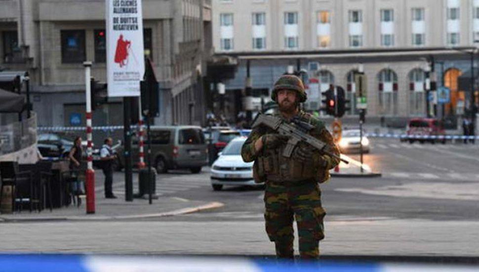 Abatieron a un  terrorista en Bruselas