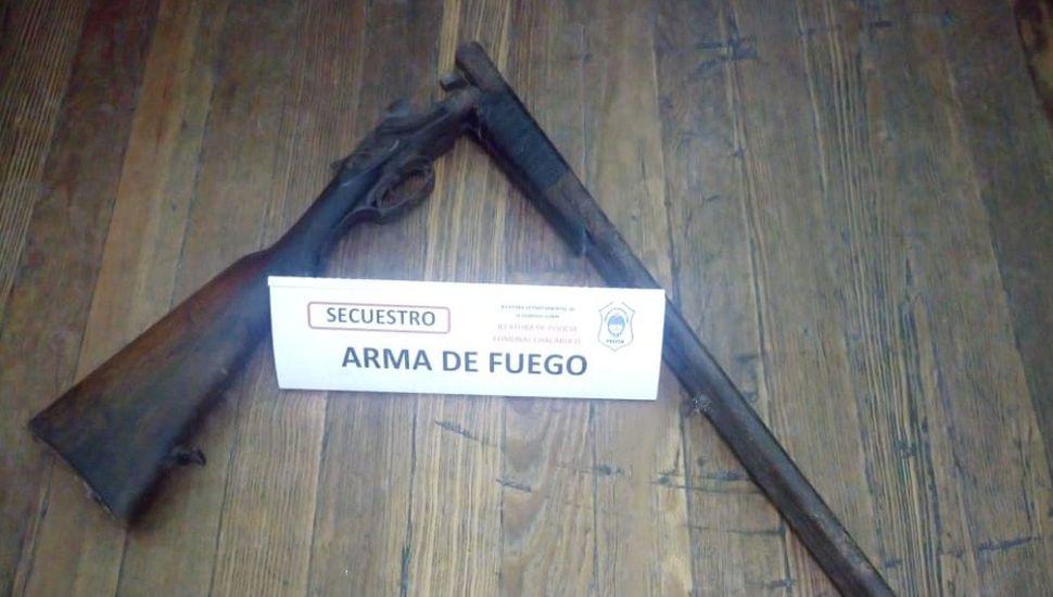 Un aprehendido en Chacabuco por tenencia ilegal de arma de uso civil y de guerra