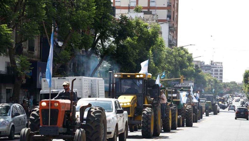 El último tractorazo en Pergamino congregó a entidades y productores de toda la región.