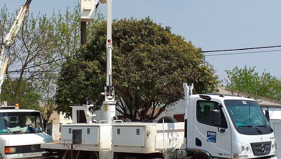 La Empresa De Energía Norte realizó obras en General Pinto