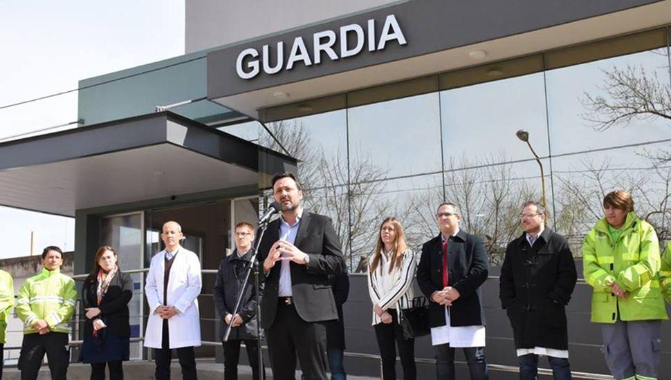 """""""El sistema de salud de la Provincia está en crecimiento"""", apuntó Aiola."""
