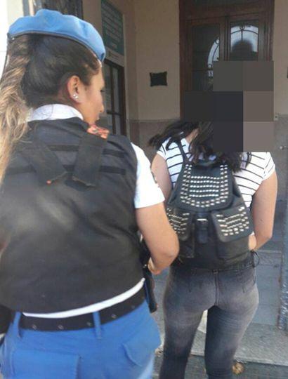 La joven de Los Toldos atrapada en nuestra ciudad y puesta a disposición de la Justicia.