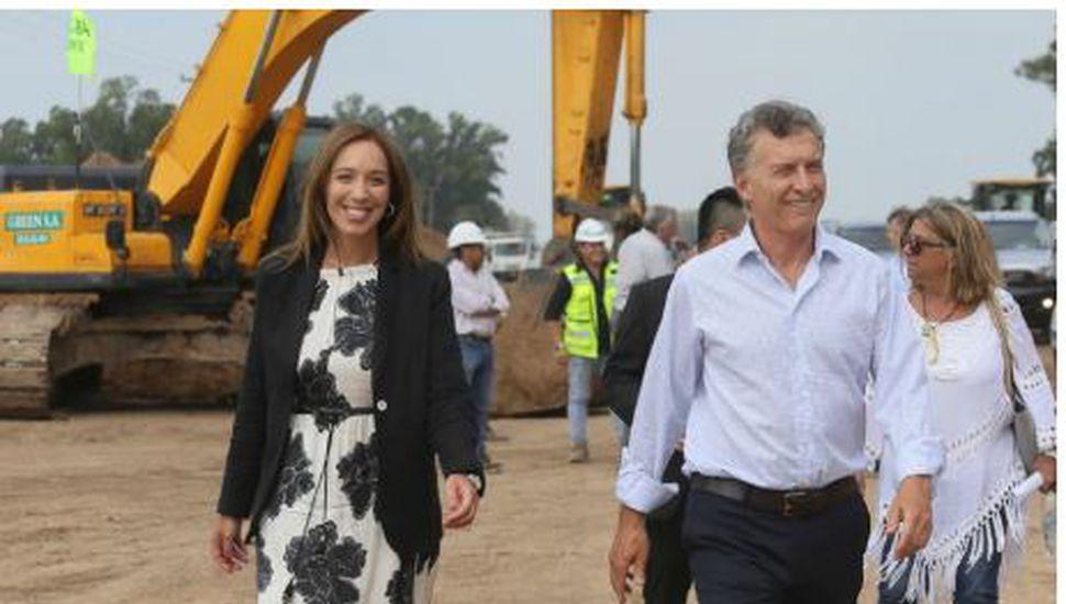 Mauricio Macri inauguró una obra junto a María Eugenia Vidal en San Andrés de Giles