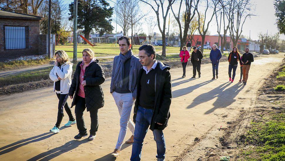 """Petrecca recuperó la calle y le envió un mensaje a la oposición de cara a 2019: """"La impronta de la gestión es hacer obras""""."""
