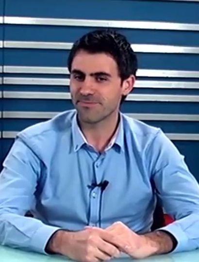 Juan Fiorini durante la entrevista con TeleJunín.