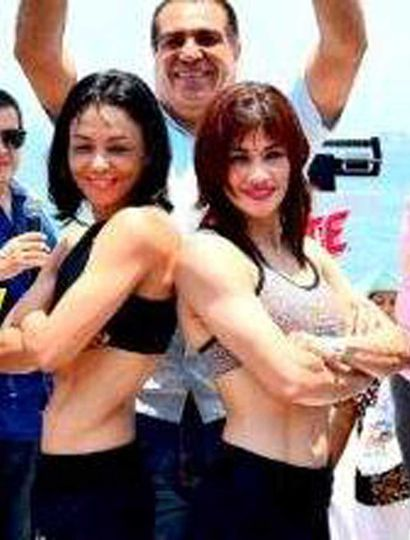 """Marcela """"La Tigresa"""" Acuña (derecha) y la mexicana Jackie Nava volverán a enfrentarse hoy, esta vez en Puerto Ballarta."""
