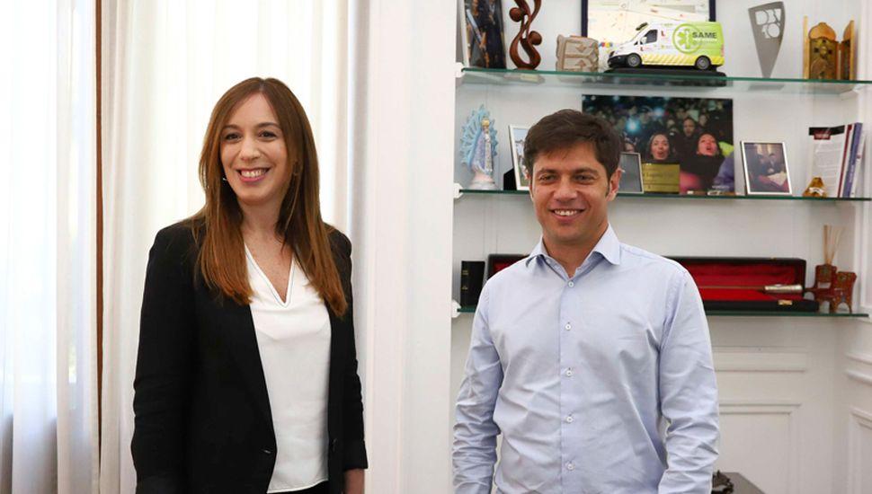 Axel Kicillof, tras la reunión con María Eugenia Vidal, se mostró preocupado por los números de la economía bonaerense y también por la crítica situación del BAPRO.